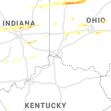 Regional Hail Map for Cincinnati, OH - Saturday, March 28, 2020