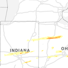 Regional Hail Map for Fort Wayne, IN - Saturday, March 28, 2020