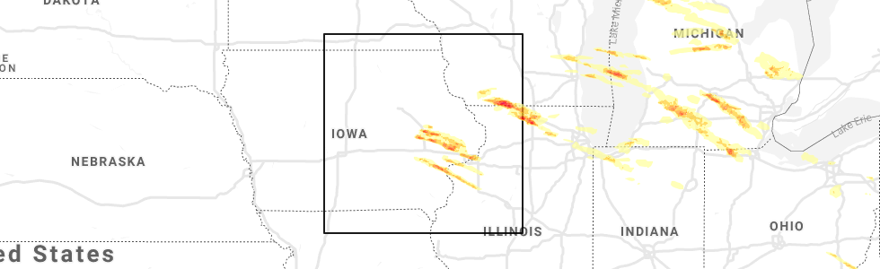 grand rapids iowa map Interactive Hail Maps Hail Map For Cedar Rapids Ia grand rapids iowa map