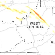 Regional Hail Map for Charleston, WV - Tuesday, April 7, 2020