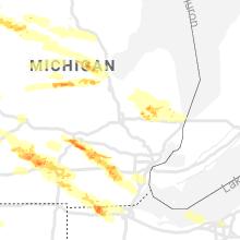 Regional Hail Map for Flint, MI - Tuesday, April 7, 2020