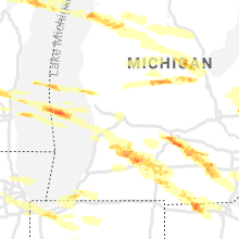 Regional Hail Map for Grand Rapids, MI - Tuesday, April 7, 2020