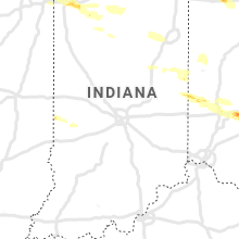 Regional Hail Map for Indianapolis, IN - Tuesday, April 7, 2020