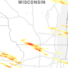 Regional Hail Map for Madison, WI - Tuesday, April 7, 2020