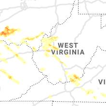 Regional Hail Map for Charleston, WV - Wednesday, April 8, 2020
