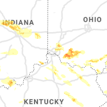 Regional Hail Map for Cincinnati, OH - Wednesday, April 8, 2020
