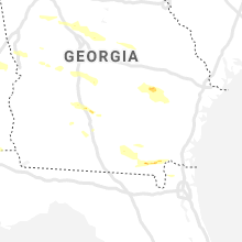 Regional Hail Map for Douglas, GA - Wednesday, April 8, 2020
