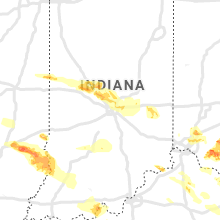 Regional Hail Map for Indianapolis, IN - Wednesday, April 8, 2020