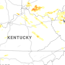 Regional Hail Map for Irvine, KY - Wednesday, April 8, 2020