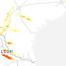 Regional Hail Map for Corpus Christi, TX - Thursday, April 9, 2020