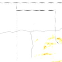 Regional Hail Map for Amarillo, TX - Saturday, April 11, 2020