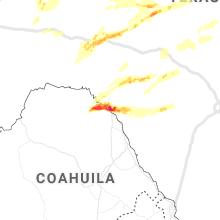 Regional Hail Map for Del Rio, TX - Saturday, April 11, 2020