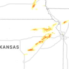 Regional Hail Map for Manhattan, KS - Saturday, April 11, 2020