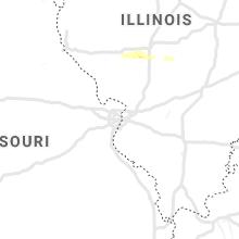 Regional Hail Map for Saint Louis, MO - Saturday, April 11, 2020