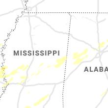 Regional Hail Map for Starkville, MS - Sunday, April 12, 2020