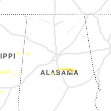 Regional Hail Map for Birmingham, AL - Saturday, April 18, 2020
