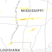 Regional Hail Map for Jackson, MS - Saturday, April 18, 2020