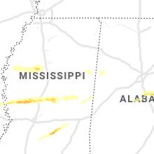 Regional Hail Map for Starkville, MS - Saturday, April 18, 2020