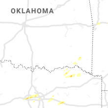 Regional Hail Map for Atoka, OK - Sunday, April 19, 2020