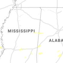 Regional Hail Map for Starkville, MS - Sunday, April 19, 2020