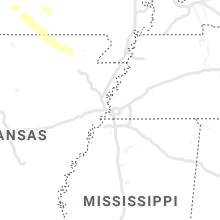 Regional Hail Map for Memphis, TN - Monday, April 20, 2020