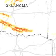 Regional Hail Map for Atoka, OK - Tuesday, April 21, 2020