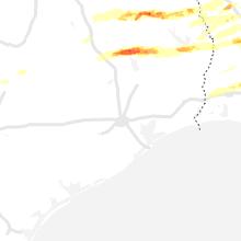 Regional Hail Map for Houston, TX - Wednesday, April 22, 2020