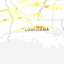 Regional Hail Map for Lafayette, LA - Wednesday, April 22, 2020