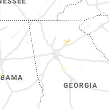 Regional Hail Map for Atlanta, GA - Thursday, April 23, 2020