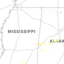 Regional Hail Map for Starkville, MS - Thursday, April 23, 2020