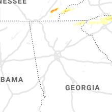 Regional Hail Map for Atlanta, GA - Saturday, April 25, 2020