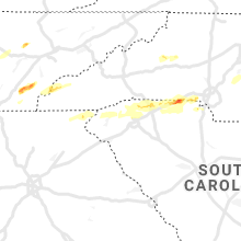 Regional Hail Map for Greenville, SC - Saturday, April 25, 2020