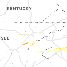 Regional Hail Map for Knoxville, TN - Saturday, April 25, 2020