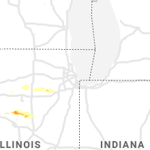Regional Hail Map for Chicago, IL - Tuesday, April 28, 2020