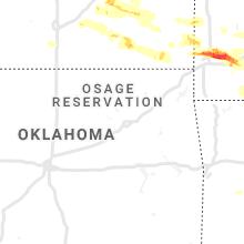 Regional Hail Map for Tulsa, OK - Sunday, May 3, 2020