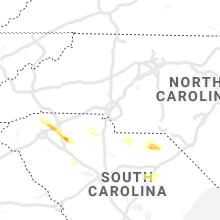 Regional Hail Map for Charlotte, NC - Monday, May 4, 2020