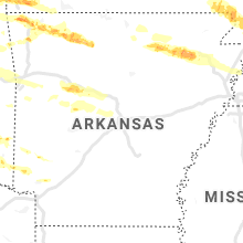 Regional Hail Map for Little Rock, AR - Monday, May 4, 2020
