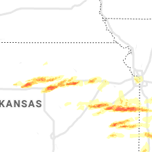 Regional Hail Map for Manhattan, KS - Monday, May 4, 2020