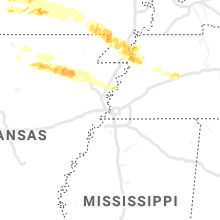 Regional Hail Map for Memphis, TN - Monday, May 4, 2020