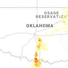 Regional Hail Map for Oklahoma City, OK - Monday, May 4, 2020