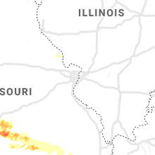Regional Hail Map for Saint Louis, MO - Monday, May 4, 2020