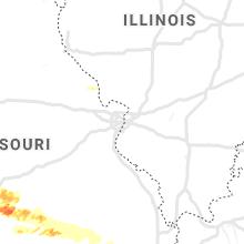 Regional Hail Map for Saint Louis, MO - Monday, May 4, 2020