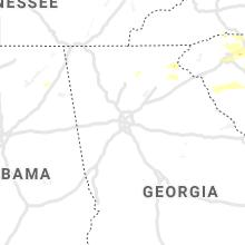 Regional Hail Map for Atlanta, GA - Tuesday, May 5, 2020