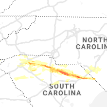 Regional Hail Map for Charlotte, NC - Tuesday, May 5, 2020