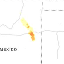 Regional Hail Map for Tucumcari, NM - Sunday, May 10, 2020