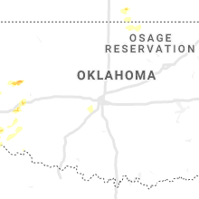 Regional Hail Map for Oklahoma City, OK - Wednesday, May 13, 2020