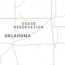 Regional Hail Map for Tulsa, OK - Wednesday, May 13, 2020
