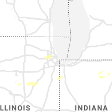 Regional Hail Map for Chicago, IL - Thursday, May 14, 2020