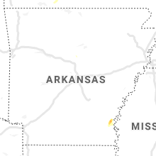 Regional Hail Map for Little Rock, AR - Thursday, May 14, 2020