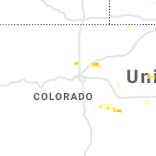 Regional Hail Map for Denver, CO - Friday, May 15, 2020